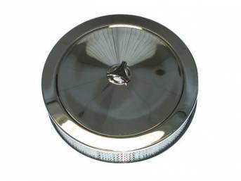 AIR CLEANER ASSY, Chrome, 14 inch O.D. x