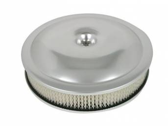 AIR CLEANER ASSY, 14 inch PERFORMANCE shape, ANODIZED