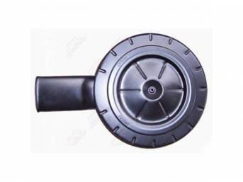AIR CLEANER ASSY, BLACK TOP W/ SINGLE SHORT WIDE OVAL (6 3/4 Inch Length), REPRO