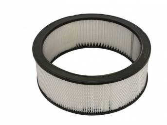 ELEMENT, Air Cleaner, Paper, 14 Inch x 6 Inch, fits most 14 inch diameter cleaners, check for hood clearance issues on some models, Repro