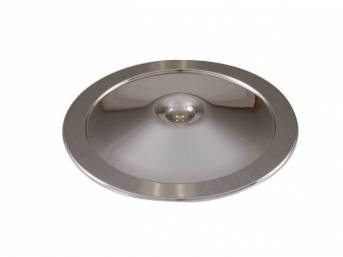 COVER, Air Cleaner, OE type w/ correct rolled edge, triple plated chrome for excellent quality, repro