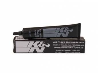 SEALING GREASE, Air Filter, K and N, 1 Ounce, Provides an airtight fit around sealing surfaces on all types of air filter elements, Resists heat and will not melt or run off, Ensures the filter stays sealed and provides extra protection in rugged environm