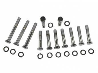 BOLT KIT, Exhaust Manifolds, (24) incl hex cap