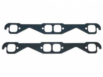 GASKET SET, Exhaust Header, 1.50 inch x 1.50 inch (GM Vortec, stock or small race port head size, square port shape), Fel Pro