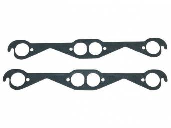 GASKET SET, Exhaust Header, 1.59 inch diameter (small round port size), Fel Pro, Perforated Steel Core w/ anti-stick backing