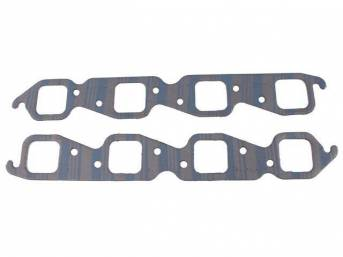 Gasket Set, Exhaust Header, 1.88 inch x 1.88 inch (Stock cast iron and early aluminum cylinder heads, square port shape), Fel Pro