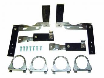 HANGER KIT, Muffler and Tail Pipe, Dual Exhaust,