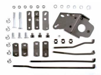 Hurst Street Super Shifter Installation Kit, Muncie / Borg Warner 4 speed