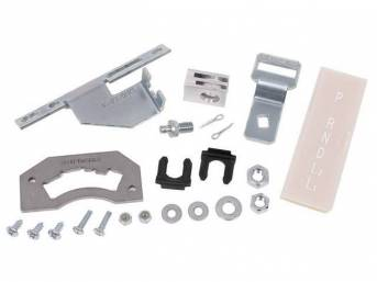 Shifter Conversion Kit, Converts 2sa/T To Th350 Hydramatic 3sa/T, Incl Detent, Lens, Hardware and Brackets, Cable is not incl, See p/n C-0854-1 / C-0854-1A