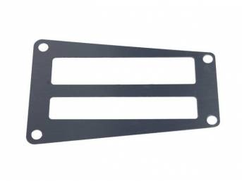 INSERT, A/T SHIFTER PLATE, BRUSHED ALUMINUM FINISH, REPRO