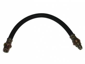 Hydraulic Brake Hose, Rear, with brass ends, repro