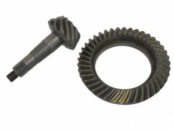 Ring and Pinion Gear Set, 10 Bolt, 8.2 inch Ring Gear, 4.11 gear