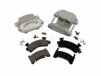 Caliper Kit Quick Change Front Clear Anodized Finish
