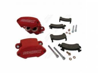 Caliper Kit Quick Change Front Red Powder Coated