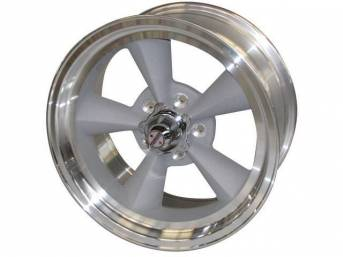 Wheel, Torq Thrust Original, Natural Outer Rim W/ Light Magnesium Center, 17 Inch O.D. X 8 Inch Width, 5 x 4 3/4 Inch Bolt Circle, 4 1/2 Inch Back Spacing