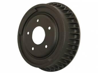 DRUM, Brake, Front, W/ Fins, 9 1/2 inch