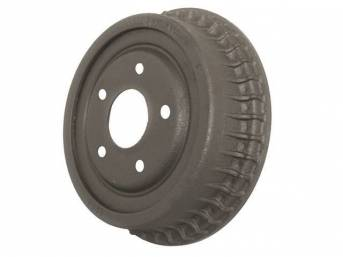 DRUM, Brake, Rear, 9 1/2 inch diameter x 2 inch depth on shoe area, repro