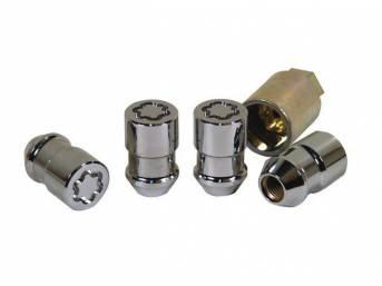 Lug Nut Set, Wheel, Locking, Torq Thrust, Cone