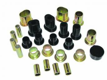BUSHING KIT, Control Arm, Front, Black Graphite Polyurethane,