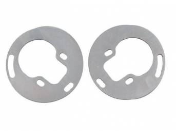 SPACER PLATES, Coilover Mount, SPC, (2) 1/2 Inch spacers, Each designed to raise your ride height on either side by 1/2 inch, Use w/ coilovers together w/ p/n C-6168-63A lower tubular arm set, To raise your ride height to 1 inch See p/n C-6168-62C