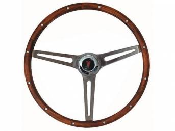 STEERING WHEEL, Classic GM, Grant, Hardwood Walnut Finish,