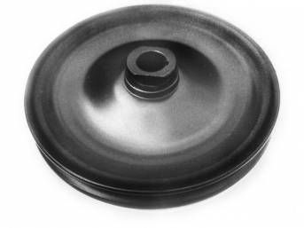 PULLEY, P/S PUMP, Single Groove, Black, 5 3/4 Inch O.D. W/ Keyway, Repro