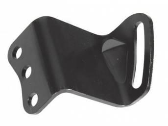 BRACKET, P/S Pump Mount, Adjust, bolts to LH side of pump, black finish, Repro