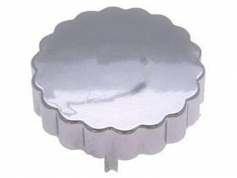COVER, P/S Pump Reservoir Cap, chrome finish, fits
