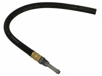HOSE, P/S Fluid Return, OE style repro  ** oe style means correct for length, bends and fittings **