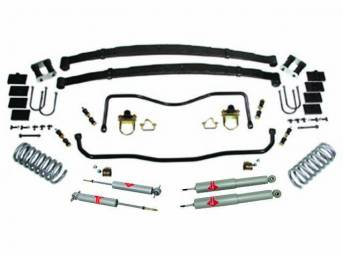 HANDLING KIT, High Performance Suspension, Street Bandit, ** kit now has KYB shocks **, kit incl 1 1/8 inch front and 7/8 inch rear hollow sway bars w/ polyurethane bushings, end links and mounting hardware, a pair of 2 inch drop coil springs, and a rear