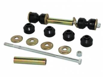 Bushing and Hardware Kit, Sway Bar, End Link, For Use W/ Aftermarket or OEM Sway Bars (See Fits Information), black polyurethane bushings, does both sides