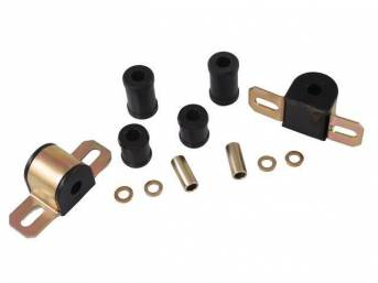 MOUNTING KIT, Sway Bar, Black Graphite Polyurethane, Energy Suspension, For Use W/ 9/16 Inch Bar and 2 Bolt Lower Clamp