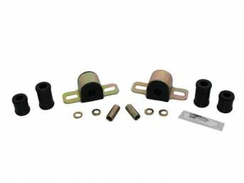 MOUNTING KIT, Sway Bar, Black Graphite Polyurethane, Energy Suspension, For Use W/ 11/16 Inch Bar and 2 Bolt Lower Clamp