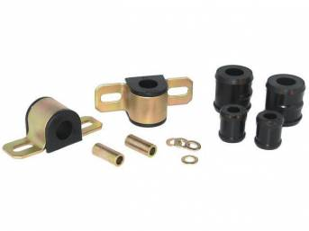 MOUNTING KIT, Sway Bar, Black Graphite Polyurethane, Energy Suspension, For Use W/ 7/8 Inch Bar and 1 Bolt Lower Clamp