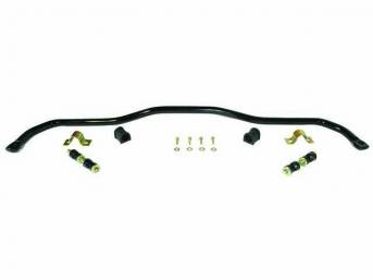 SWAY BAR, Front, 1 1/4 Inch O.D., Black Powder Coated Finish, Incl black bushings and mounting hardware