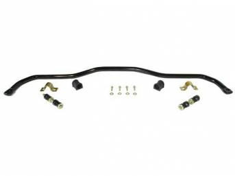 SWAY BAR, Front, 1 1/8 Inch O.D., Black Powder Coated Finish, Incl black bushings and mounting hardware
