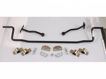 SWAY BAR, Rear, 7/8 Inch O.D., Black Powder Coated Finish, Incl black bushings and hanger kit
