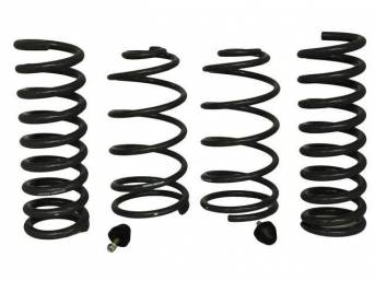 COIL SPRING SET, Front and Rear, Hotchkis, 1