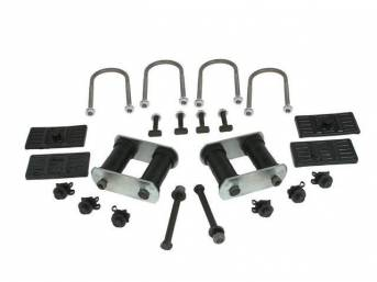 MOUNT KIT, Leaf Spring Master, mono-leaf, US-Made by Eaton Detroit Spring, Repro  ** Must use w/ mono-leaf spring perches **