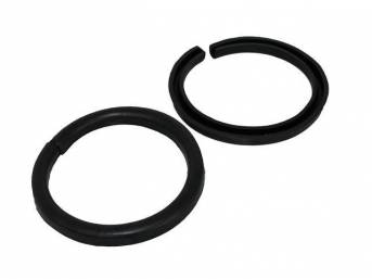 INSULATOR SET, Rear Coil Spring, Upper, mounts into frame, rubber w/o imprenated cord, Replacement Style Repro  ** See C-7545-110A for OE Correct Repro **