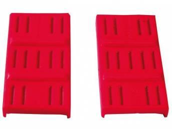Cushion Set, Leaf Spring Mount, Upper, urethane, red, Repro