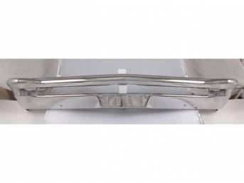 BUMPER, Front, Chrome Finish, 12 gauge steel, repro