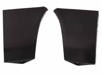 Front Fender Extension Set, Lower, no marker lights cutouts or spoiler holes, repro