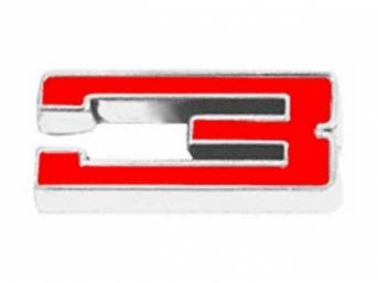 Emblem, Fender / Hood, *3*, 5/8 inch tall