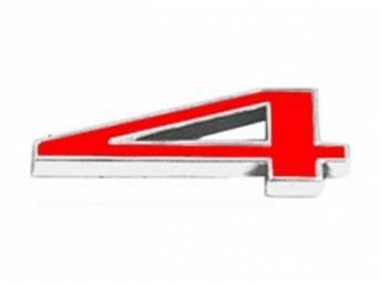 Emblem, Fender / Hood, *4*, 5/8 inch tall