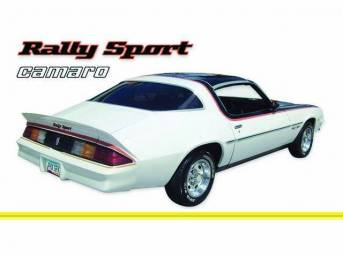 STRIPE KIT, Rally Sport, Med / Dark / Lt. Yellow, 16-piece kit, Repro