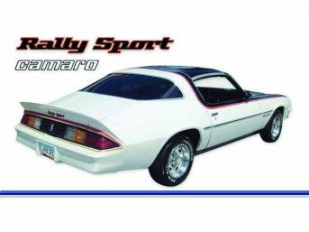 STRIPE KIT, Rally Sport, Med / Dark Blue / Silver, 16-piece kit, Repro