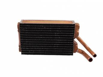 CORE, Heater, Copper / Brass, 9 1/2 x 6 3/8 x 2 core size, 5/8 Inch inlet, 3/4 Inch outlet, repro