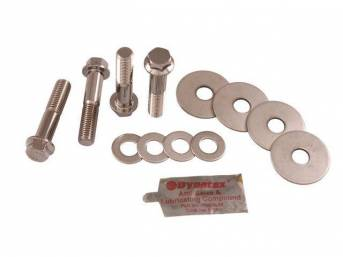 HARDWARE KIT, Subframe Mount, Stainless, (12), Does not incl hardware for radiator support locations, Repro