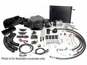 A/C SYSTEM, Aftermarket *PERFECT FIT ELITE*, Fully electric, ** To complete kit see group C-9171A for compressor mount, Total kit price $1499.95 **